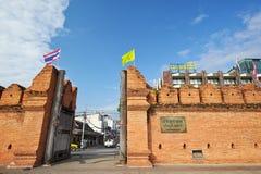 Portone di Thapae di Chiang Mai in Tailandia Fotografie Stock