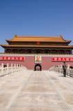 Portone di Tiananmen, la Città proibita Immagine Stock