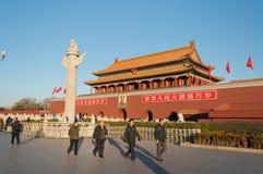 Portone di Tienanmen (il portone di pace celeste). Pechino. La Cina immagine stock libera da diritti