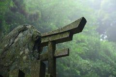 Portone di Torii in Fushimi Inari Immagini Stock Libere da Diritti