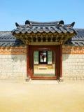 Portone di tradizione della Corea. Fotografia Stock Libera da Diritti