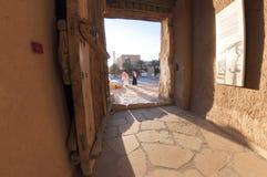 Portone di uscita della fortificazione di Al Masmak in Riyad Immagine Stock