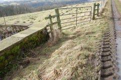 Portone e pista del paese vicino a Richmond North Yorkshire fotografia stock libera da diritti