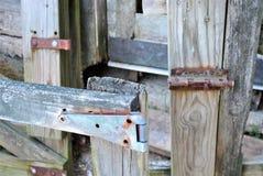 Portone e serratura fotografia stock