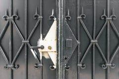 Portone forgiato del metallo e sigillato immagini stock libere da diritti
