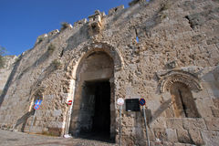 Portone Gerusalemme di Zion fotografie stock