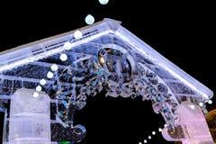 Portone nella città del ghiaccio Fotografia Stock Libera da Diritti