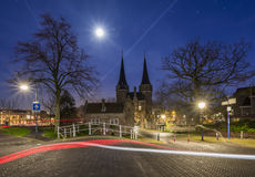 Portone orientale di Delft (Oostpoort) Fotografia Stock Libera da Diritti