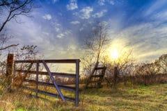 Portone posteriore nel Texas orientale fotografia stock