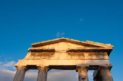 Portone - Roman Agora di Atene Fotografia Stock