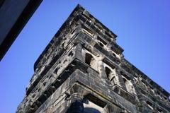 Portone romano del Nigra di Porta nella città Germania di Treviri Immagini Stock Libere da Diritti