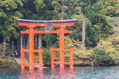 Portone rosso di torii Immagini Stock