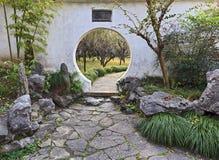 Portone rotondo del giardino del CN Suzhou Fotografia Stock Libera da Diritti