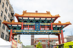 Portone Seattle Washington di Chinatown Fotografie Stock