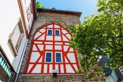 Portone storico della città in Herborn, Germania Fotografie Stock