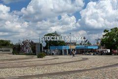 Portone storico numero 2 del cantiere navale di Danzica, Polonia Fotografie Stock Libere da Diritti