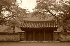 Portone sudcoreano del tempio Fotografie Stock