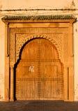 Portone tradizionale nel Marocco Fotografia Stock