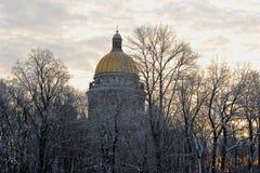 Portone trionfale di Narva su Ploshchad Stachek Fotografia Stock Libera da Diritti