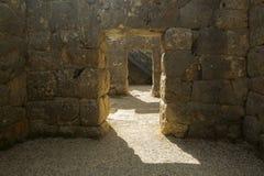 Portoni antichi delle pareti di Nekromanteio dentro, Prevesa Immagine Stock Libera da Diritti