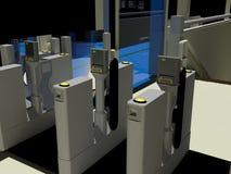Portoni automatici del biglietto Fotografia Stock