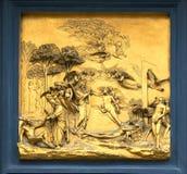 Portoni del paradiso da Lorenzo Ghiberti Immagine Stock