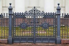 Portoni dell'ornamentale del ferro battuto Fotografia Stock Libera da Diritti