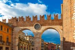 Portoni della Bra at evening in Verona, Italy. Royalty Free Stock Image