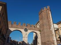 Portoni della Bra gate in Verona. Italy royalty free stock photos