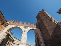Portoni della Bra gate in Verona. VERONA, ITALY - CIRCA MARCH 2019: Portoni della Bra gate stock photography