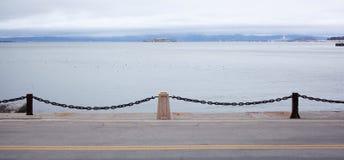Portoni della riva dell'oceano Pacifico Fotografia Stock