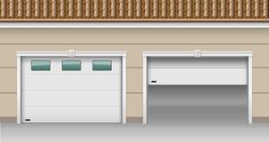 Portoni di sollevamento del garage illustrazione di stock