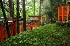Portoni giapponesi di torii Immagini Stock Libere da Diritti