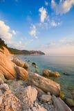 Portonovo bay on the adriatic sea, Marche Royalty Free Stock Photo