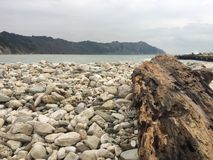 Portonovo beach in Winter royalty free stock images