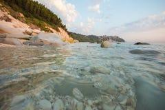 Portonovo plaża Marche, Włochy, - Fotografia Royalty Free