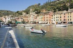 Portopfino, wioska blisko Genova Zdjęcie Royalty Free