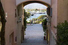 Portorotondo. Touristic village in the north-east of Sardinia Stock Images