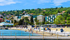 Portoroz beach and holiday resort, Slovenia