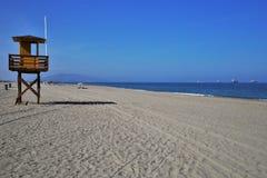 Portos Bolaga da praia em Carboneras Almeria Andalusia Spain imagem de stock royalty free
