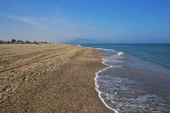 Portos Bolaga da praia em Carboneras Almeria Andalusia Spain fotografia de stock royalty free