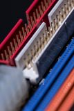 Portos coloridos do cartão-matriz do computador imagens de stock royalty free