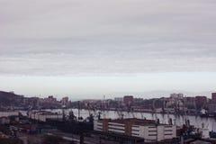 Portos marítimos em Vladivostok, Rússia Fotografia de Stock Royalty Free