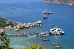 Portos na ilha de Nangyuan Imagens de Stock