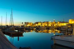 Portoscuso by night. A night image of the port of Portoscuso , sardinia Royalty Free Stock Image