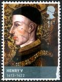 Portostämpel för konung Henry V Royaltyfria Bilder