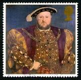 Portostämpel för konung Henry VIII UK arkivfoton