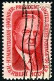 Portostämpel för president Herbert Hoover USA Arkivbild