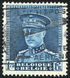 portostämpel som skrivs ut av Belgien Fotografering för Bildbyråer
