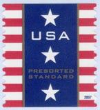 portostämpel USA Arkivfoton